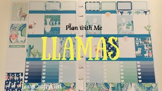 Plan with Me: Llamas in my Happy Planner
