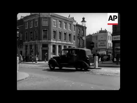 Pimlico, London - Rare 1950s  film of Thomas Cubitt's stucco streets