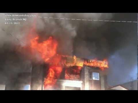 5th Alarm Building Fire in Long Branch NJ