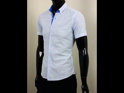 Стильная мужская рубашка с коротким рукавом La Querre Арт.1017-3