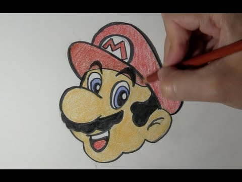 How To Draw Mario Bros Step By Step Easy Way Drawing Youtube
