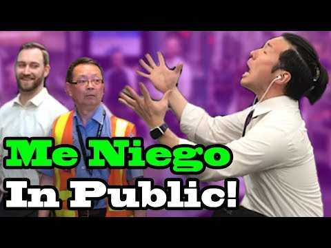 """ME NIEGO"" - Ozuna, Reik, Wisin - SINGING IN PUBLIC!!"