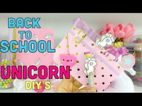4 DIY´S /UNICORN Back to School ideas