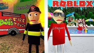 PLAY AS FIREFIGHTER BALDI AND LIFEGUARD BALDI!! | Roblox: Baldi's Basics RP [EARLY ACCESS]