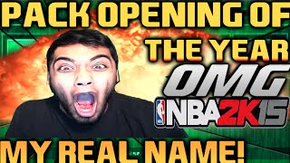 PACK OPENING OF THE YEAR! MY REAL NAME! FUNNIEST VIDEO EVER! NBA 2k15 MyTEAM FaceCam!
