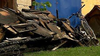 Pożar domu mieszkalnego pod Dubieckiem