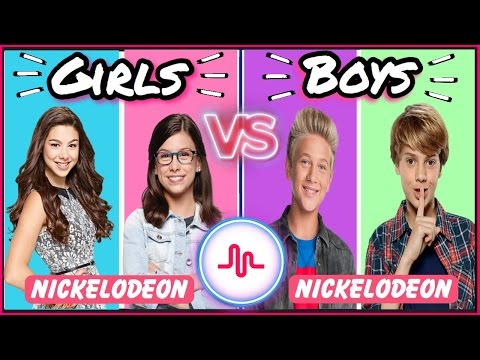 Famous Girls VS Boys Musical.ly Battle | Top Nickelodeon Stars New Musically