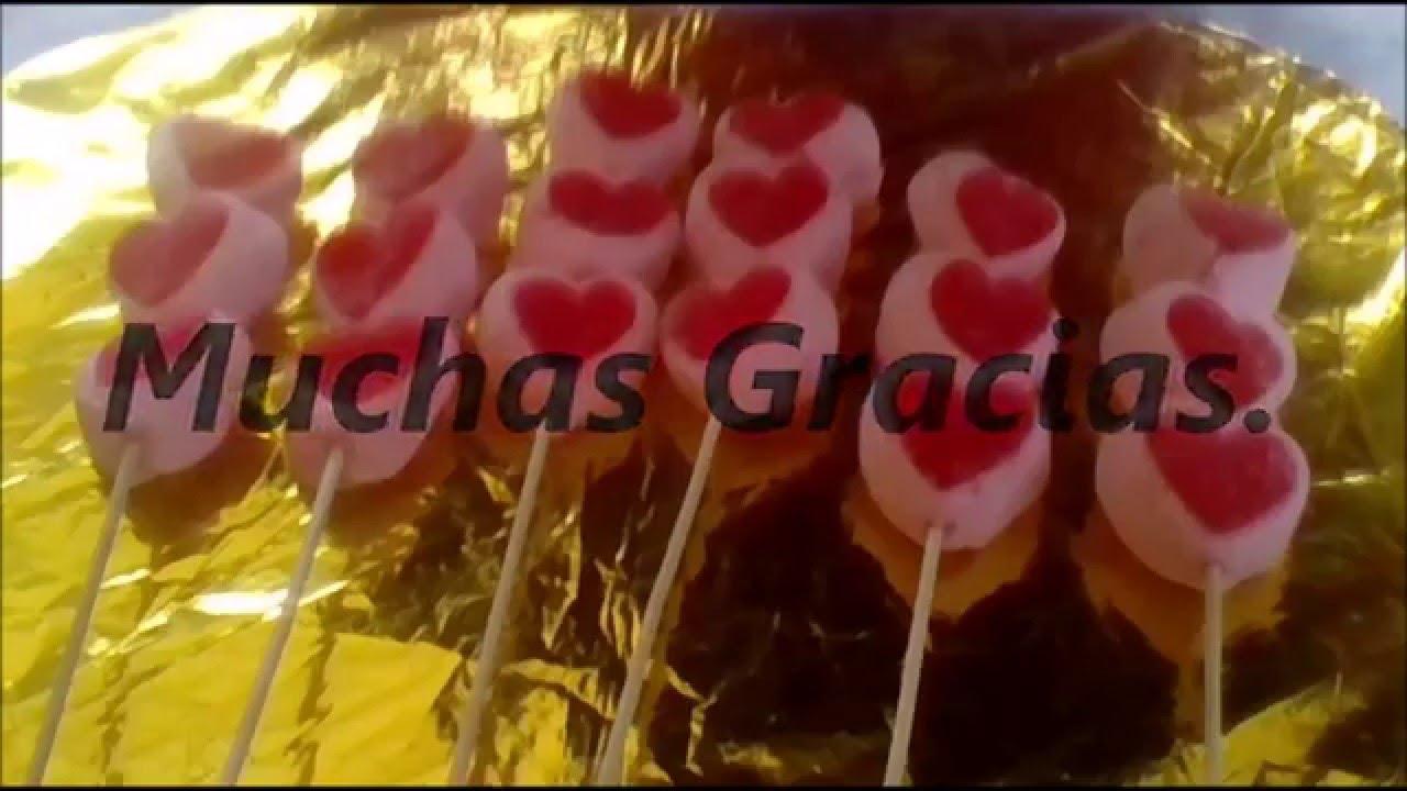 14 De Febrero Brochetas De Corazon Con Bombon Facíl