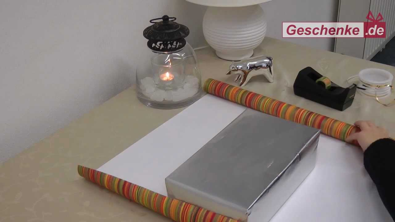 tutorial geschenke sch n verpackt youtube. Black Bedroom Furniture Sets. Home Design Ideas