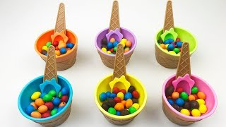 Colored Candy Toys Inside Cups Video For Children