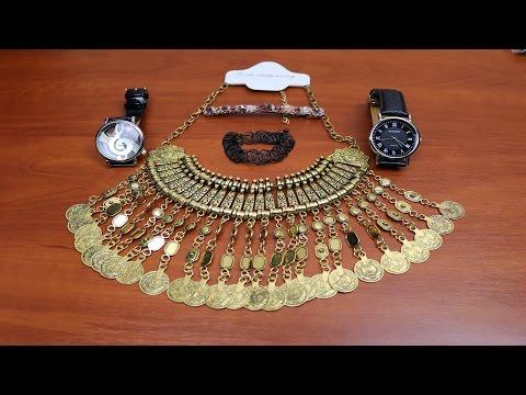 Посылки из Китая: Мужские и женские часы,Ожерелье,Чокеры,Заколка