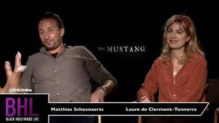Matthias Schoenaerts  & Laure De Clermont-Tonnerre | The Mustang Press Junket