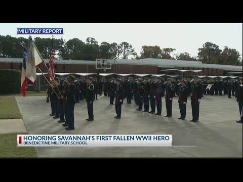 Benedictine Military School honors Savannah's first fallen WWII hero