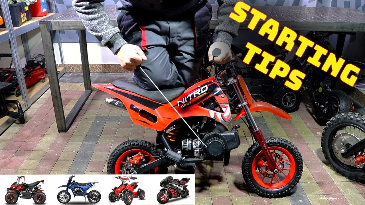 Starting TIPS - 49cc Pocket Bike Engine 50cc - Engine wont start Nitro  Motors