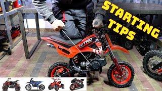 Starting TIPS - 49cc Pocket Bike Engine 50cc - Engine wont start Nitro Motors