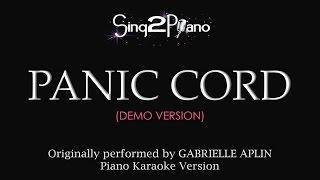 Panic Cord (Piano Karaoke Demo) Gabrielle Aplin