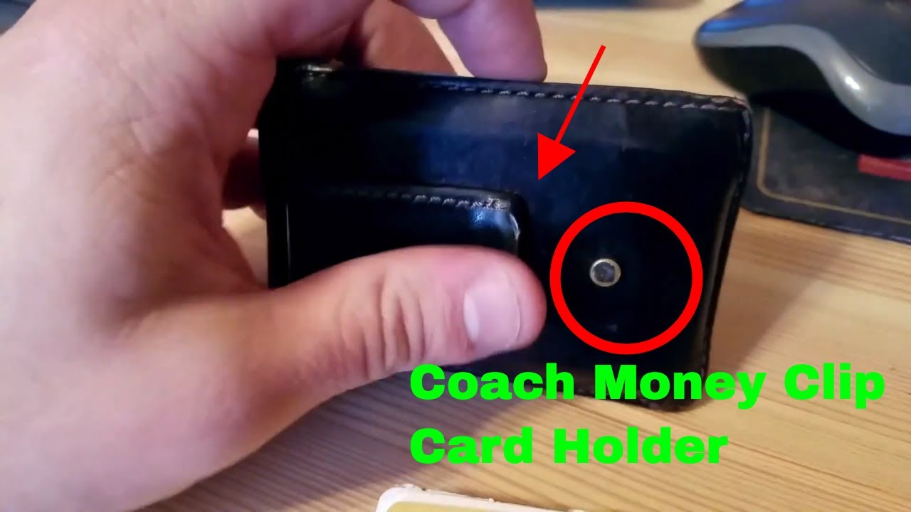 60fb4416137be ✅ How To Use Coach Money Clip Card Holder Review - YouTube
