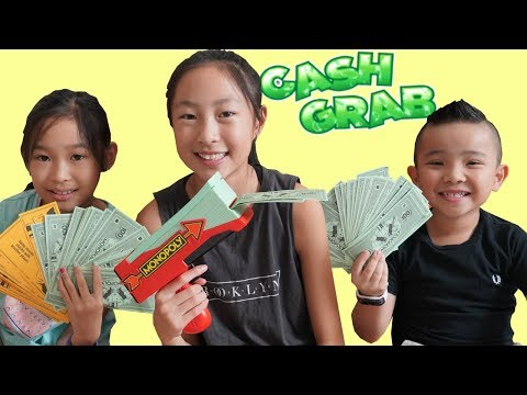 MONOPOLY CASH GRAB Fun Children's Game With CKN Toys