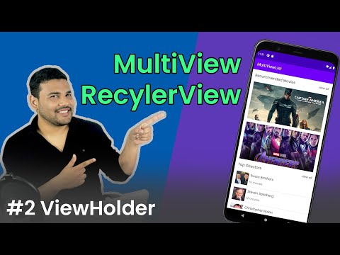 RecyclerView with Multiple View Types - #2 ViewHolder