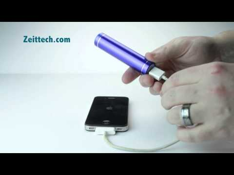 Portable iPhone battery charger, cell phone battery pack - Zeittech Portable Power Bank Review