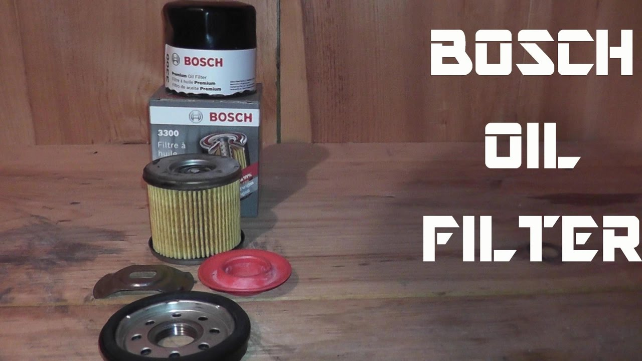 bosch premium oil filter review youtube