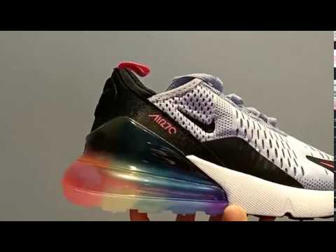 "2018 Nike Air Max 270 ""Be True"" Multi Color AR0344 500 Running Shoes"