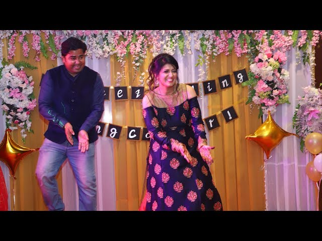 Beautiful 70s Retro Dance by couple on retirement theme party | Couple Dance on Bollywood Songs