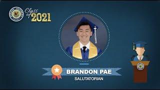 Class of 2021 - Brandon Pae's Speech