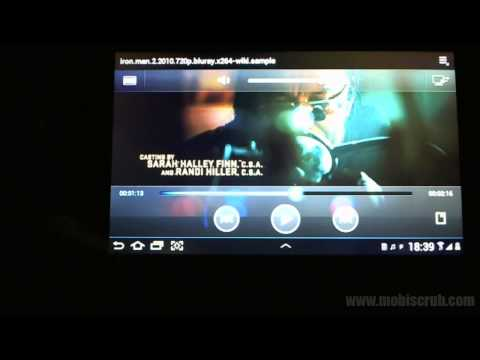 Samsung Galaxy Tab 2 7 inch - video and music - video