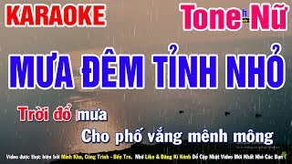 Karaoke Mưa Đêm Tỉnh Nhỏ Tone Nữ Nhạc Sống | Mai Thảo Organ