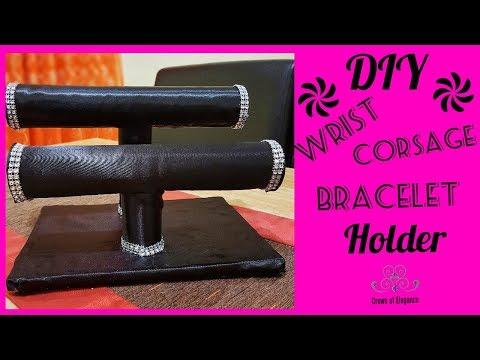 Wrist Corsage Holder| DIY Bracelet Holder| Paper Towel Crafts| DIY Jewelry Organizer