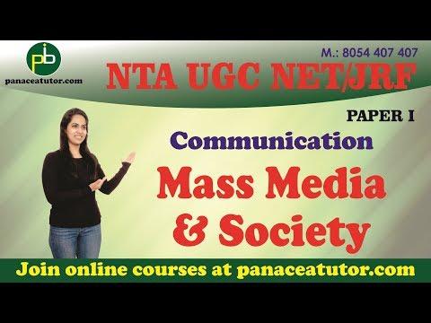 Mass Media & Society (Communication) | UGC NET/JRF Paper 1 | Panaceatutor
