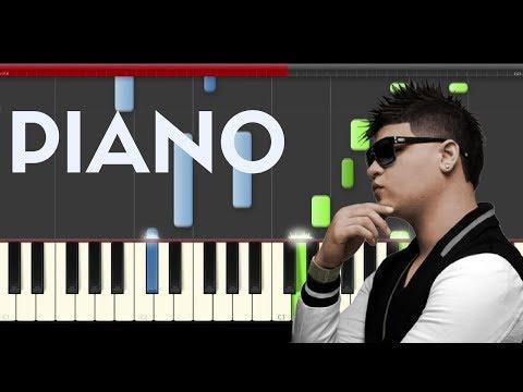 Farruko Chillax ft Ky Mani piano midi tutorial sheet partitura cover app  karaoke
