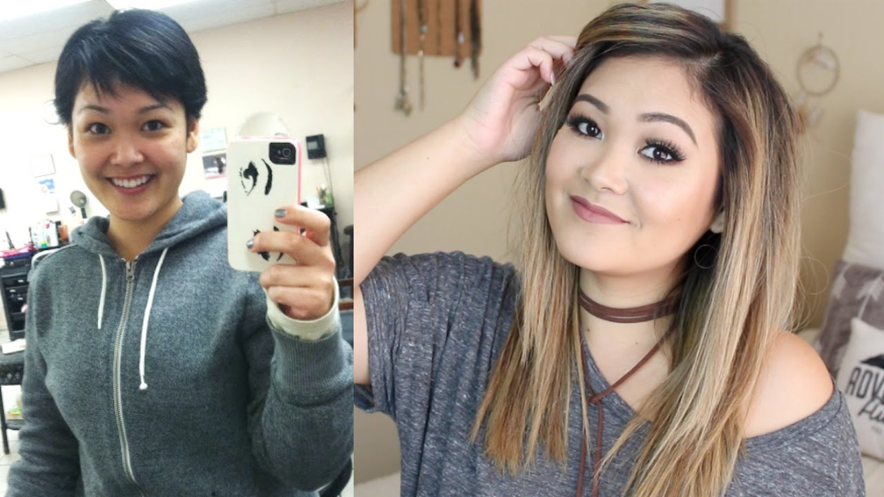 Pixie Cut Before And After How I Grew Out My Pixie Hair Cut Fast Jaaackjack Youtube