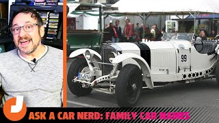 homepage tile video photo for What Cars Were Named For Family Members? | Ask a Car Nerd | Jalopnik