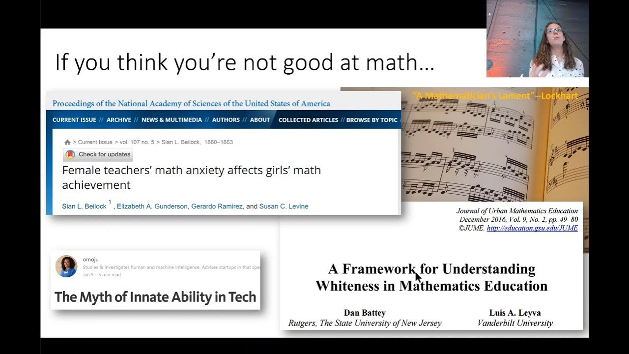 """There's no such thing as """"not a math person"""""""
