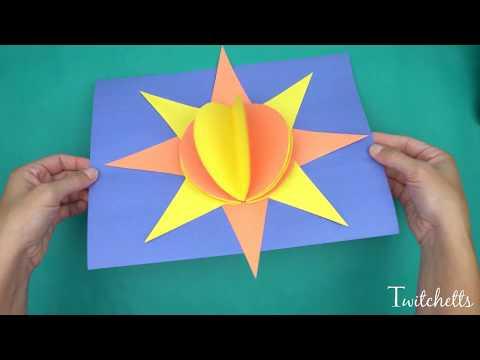 3D Paper Sun - Construction Paper Crafts For Kids!