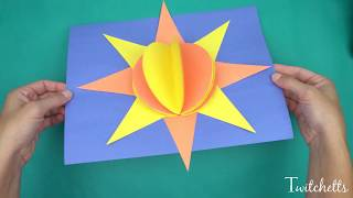 3D Paper Sun - Construction Paper Crafts for Kids!