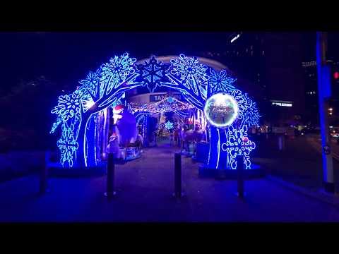 [Singapore Walk][4K] Orchard Road Christmas Lightup 2018