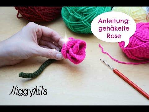 Niggyarts Häkelanleitung Rose Youtube