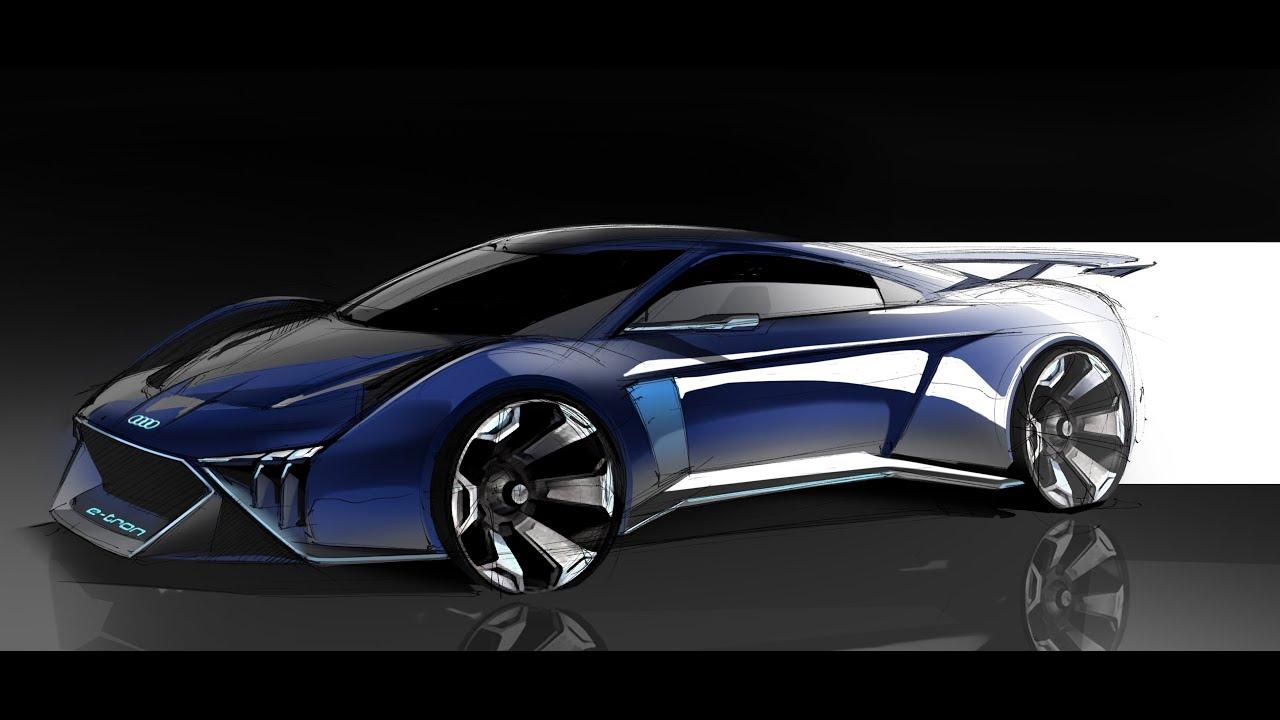 car design sketch  u0026 drawing - audi rsq e-tron