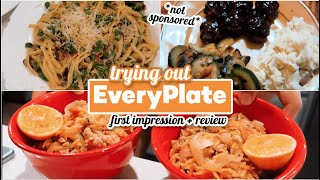 TRY NG OUT EVERYPLATE MEALS Not Sponsored HONEST REV EW -  S EveryPlate Worth  T
