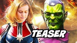 Captain Marvel Villain Teaser and Avengers Easter Eggs