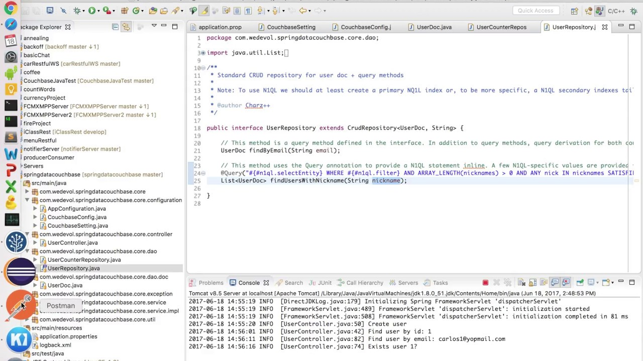 Spring Data Couchbase Example