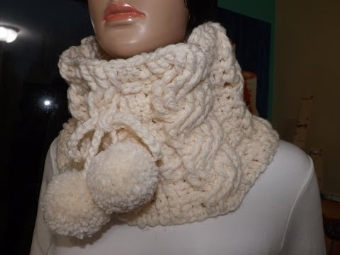 Crochet cable cowl or neckwarmer - with Ruby Stedman