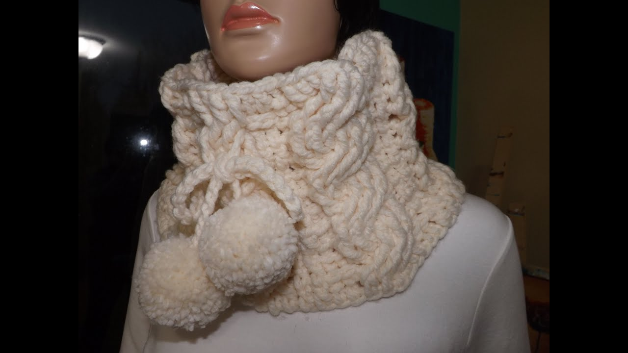 Crochet Cable Cowl Or Neckwarmer With Ruby Stedman Youtube