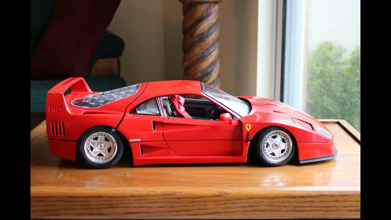 Pocher 1987 Ferrari F40 1 8 Scale Model Car Review Youtube