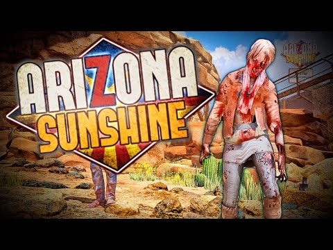 SHOOTING ZOMBIES In Virtual Reality!! = THE OLD MINE! NEW MAP  (Arizona Sunshine)