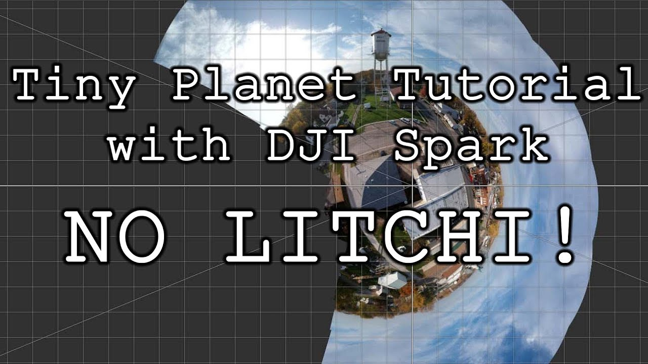 How To: TINY PLANETS with DJI Spark and Microsoft ICE (No