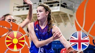 MKD v Great Britain - Full Game - FIBA U16 Women's European Championship Division B 2018 thumbnail